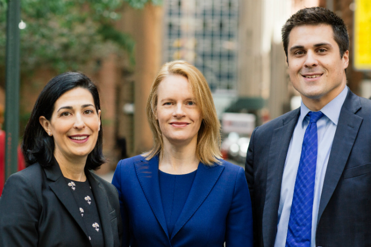 Milbank attorneys and former USAO lawyers Katherine Goldstein, Antonia Apps, and Adam Fee.