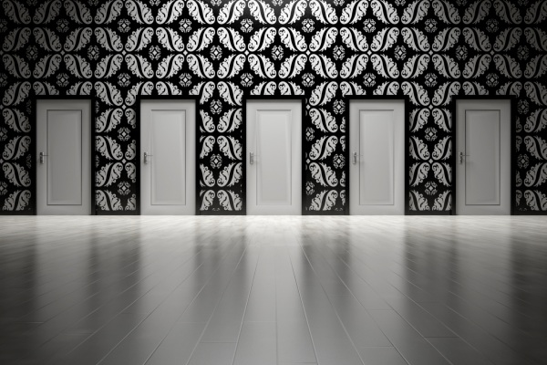 5 identical doors