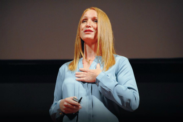 Casey Brown giving a TedTalk