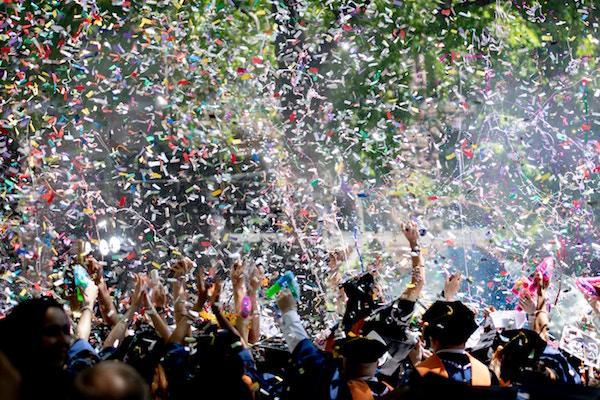 graduates celebrating
