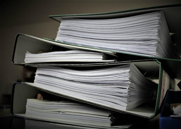 Binders of documents