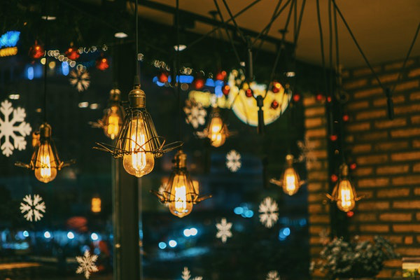 Christmas Bulbs Window