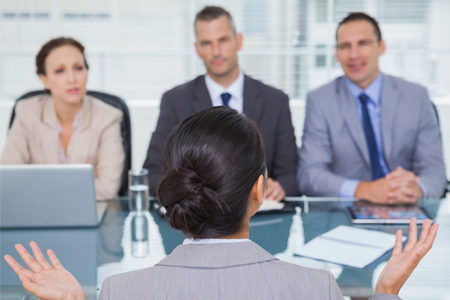 Which option best describes a panel interview